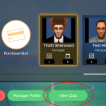 2. Select your manager character and click View Club