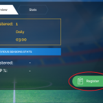 4. Select the tournament and then click register