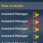 4. Click apply icon for the club(s) you want to apply to.